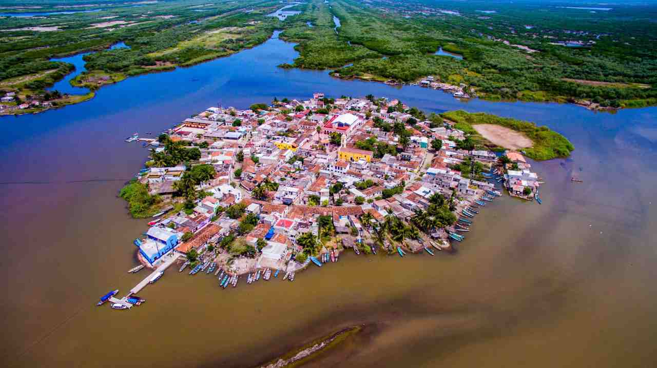 Mexican Venice is village isolated on own tinyisland