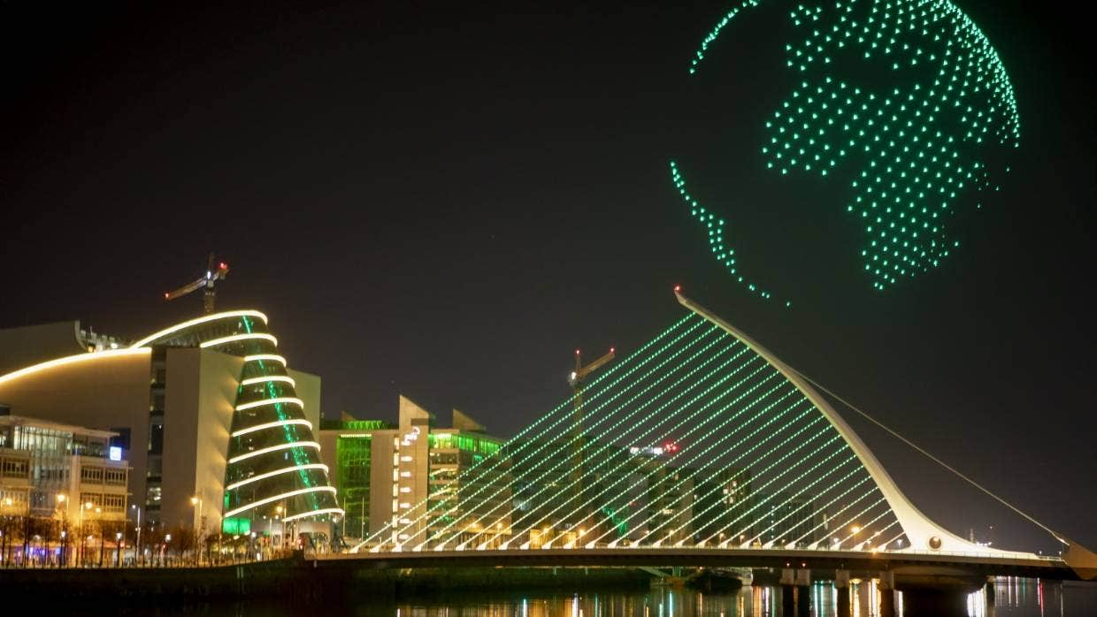 Watch Dublin's dramatic drone show for St Patrick'sDay