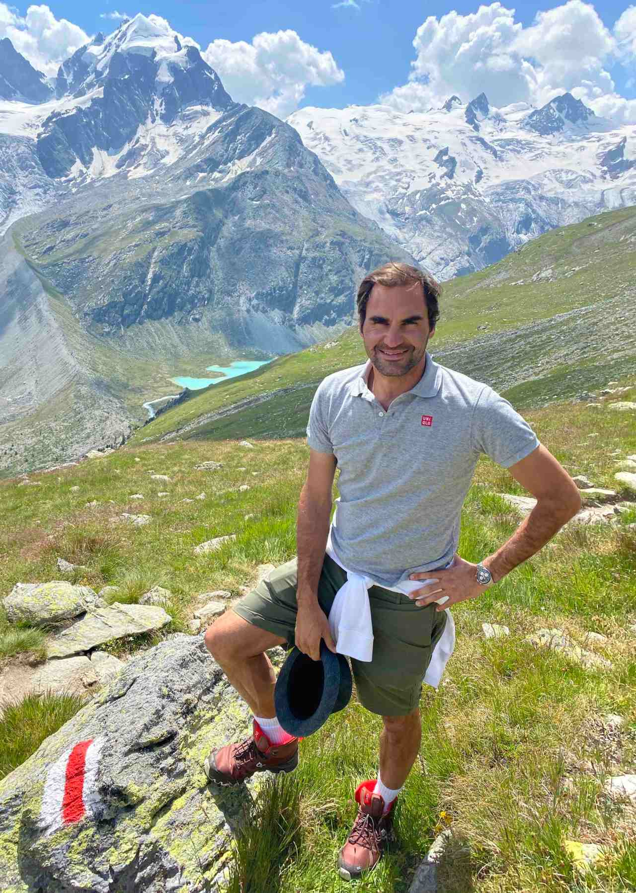 Tennis ace Roger Federer is the new face of Swisstourism
