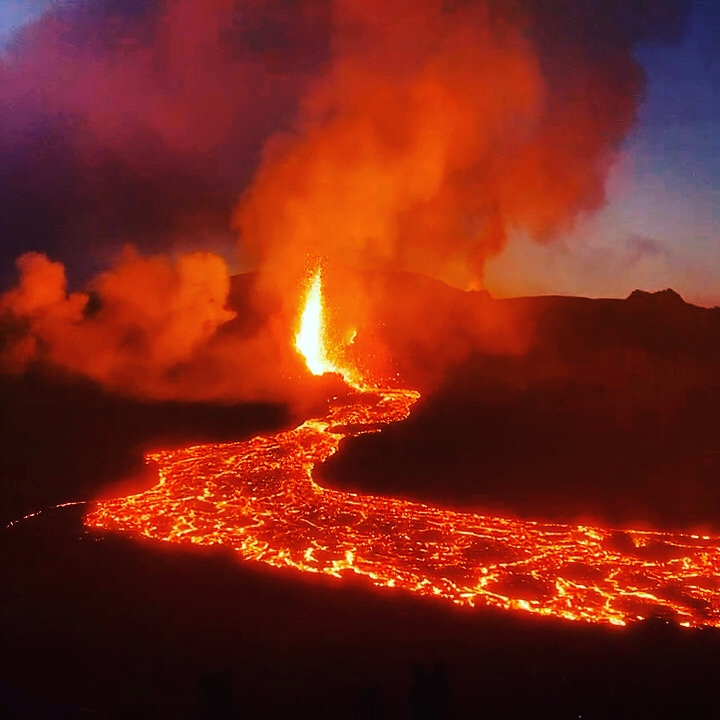 Remarkable pictures from the Iceland volcanotonight